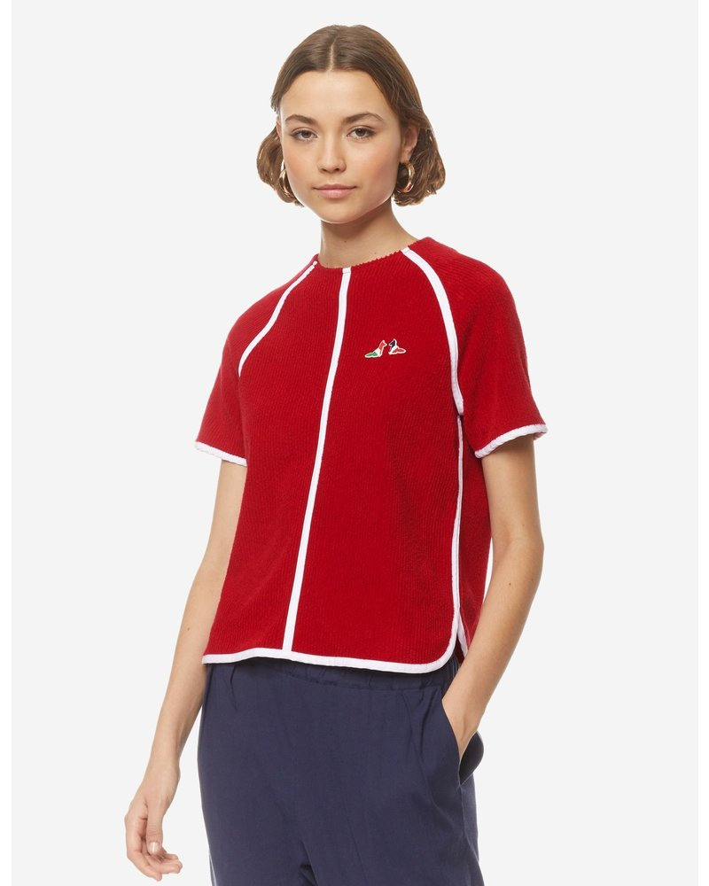 Maison Kitsuné Terry Cloth Top - Red