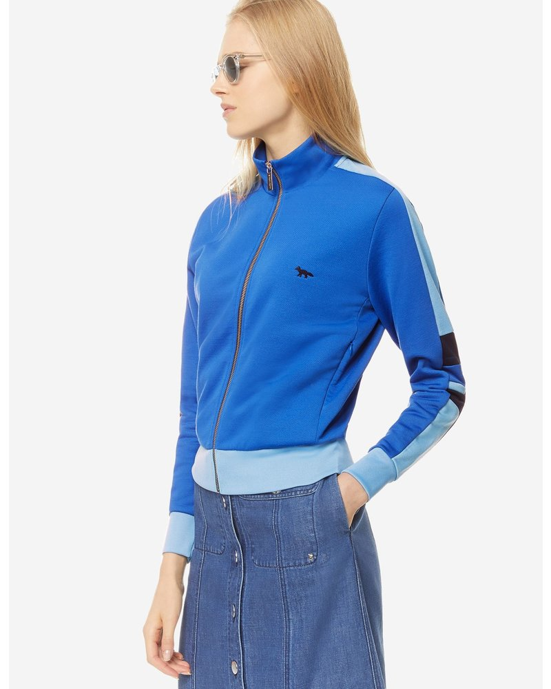 Maison Kitsuné Technical Zipped Sweatshirt - Blue
