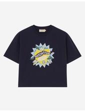 Maison Kitsuné Cropped T-shirt Limone - Navy