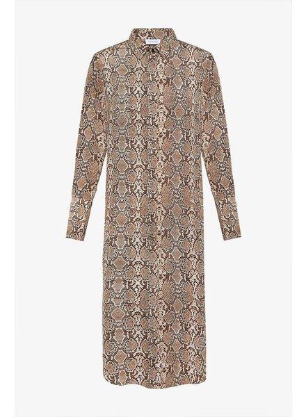 Anine Bing Chelsea shirt dress - Python
