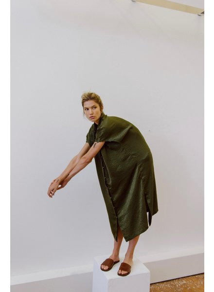 Priory Placket dress - Olive