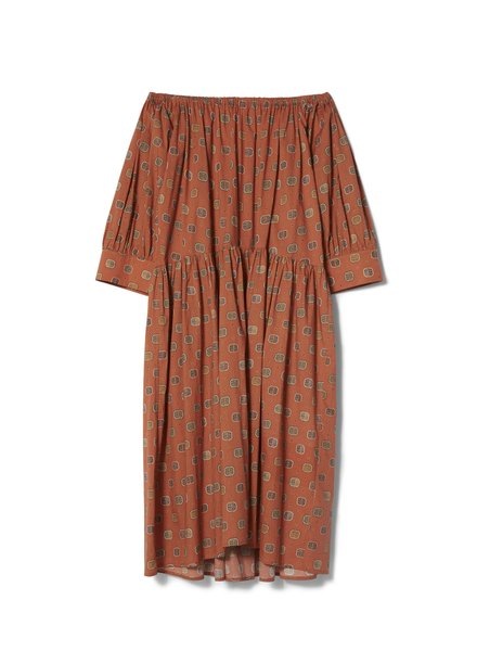 Totême Cimano dress - Rust Print