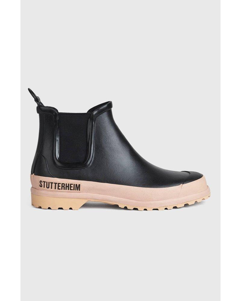 Stutterheim Chelsea rainwalker - Black/Pale Pink