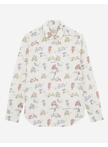 Maison Kitsuné All-over Scooter Shirt - Multi