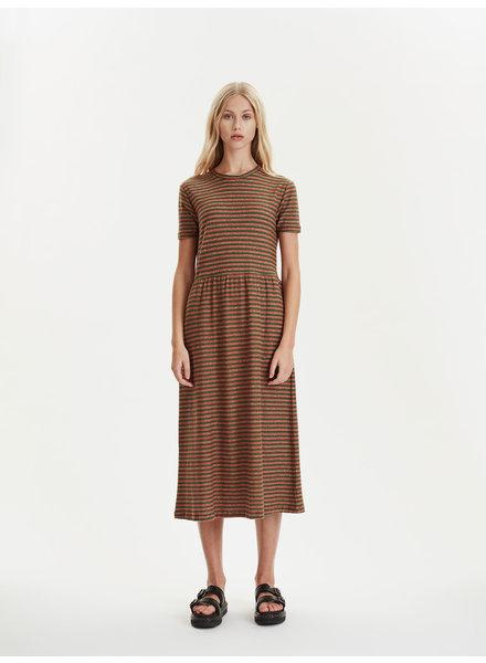 Libertine Libertine Zink dress - Rust / Stripes