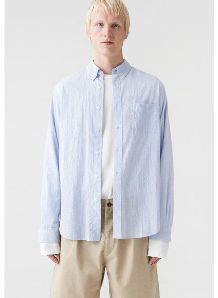 Hope Button down Shirt - Blue Stripe -size 52