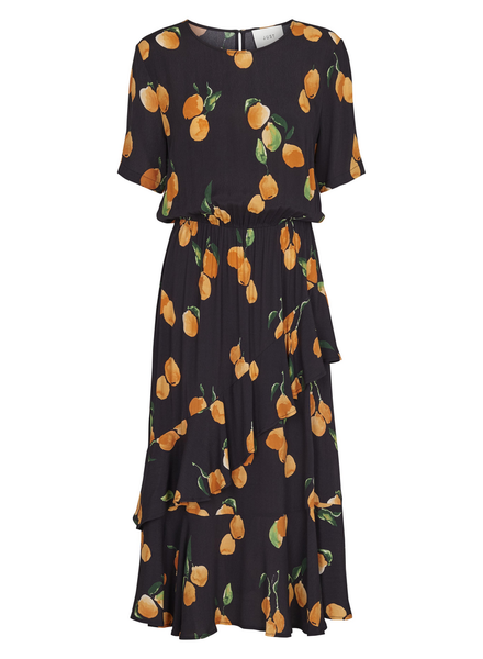 Just Female Sine dress - Oranges aop