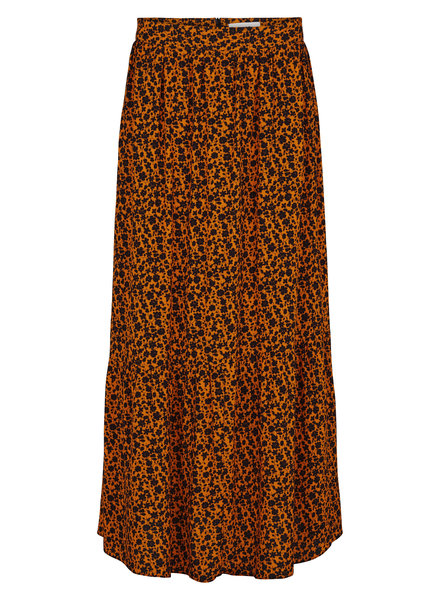 Just Female Kari maxi skirt - Orange flower