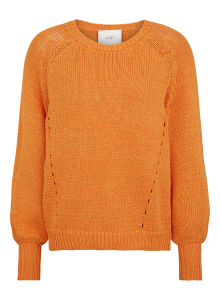 Just Female Mari knit - Apricot orange