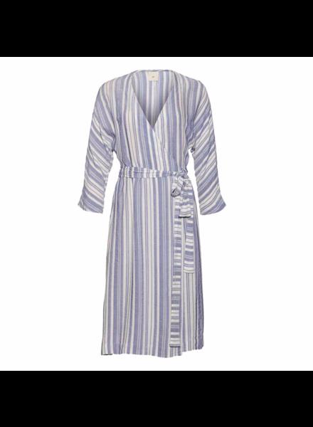 Julie Fagerholt Hirsa dress - Blue/White