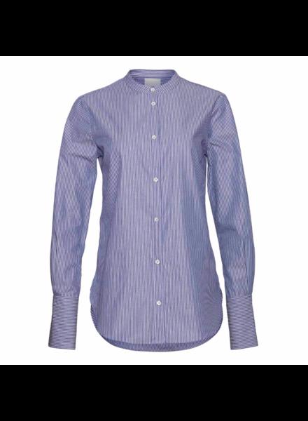 Julie Fagerholt Malio shirt - Blue Stripe - size 32  - NO RETURN
