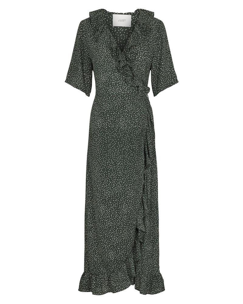 Just Female Image maxi wrap dress - Green dot