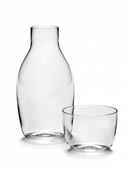 Vincent Van Duysen KARAFE 75 CL + GLASS 20 CL PASSE-PARTOUT H18,6cm D9,3cm