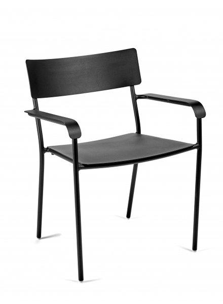 Vincent Van Duysen August stoel met Armleuning 55X60 H79 - Zwart
