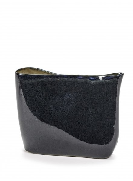 Anita Le Grelle for Serax VASE low 31X11 H24 Dark Blue
