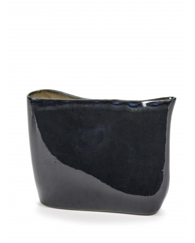 Anita Le Grelle for Serax VASE low 31X11 H24 Dark Blue