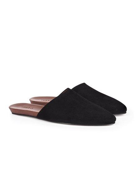 Inabo Slider - Black Suede - size 40