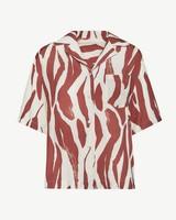 Anine Bing Benji Shirt - Orange Zebra
