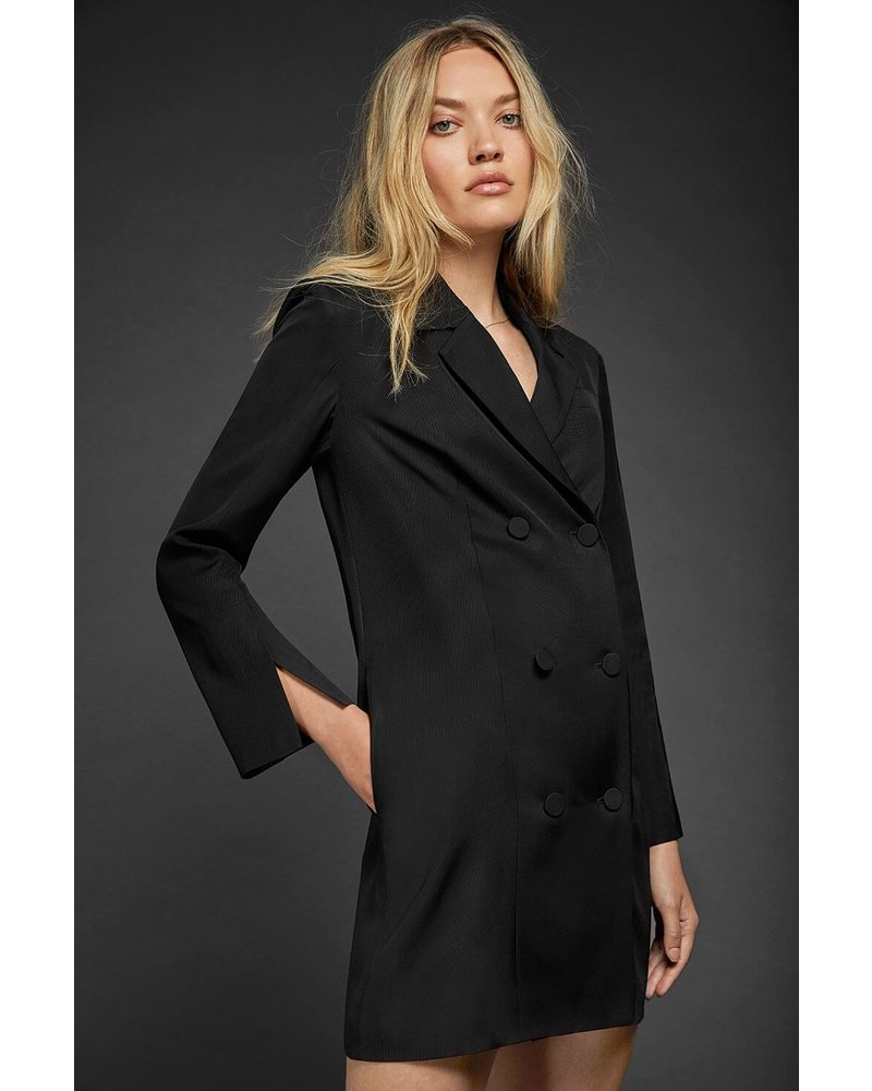 Anine Bing Francoise Blazer Dress - Black