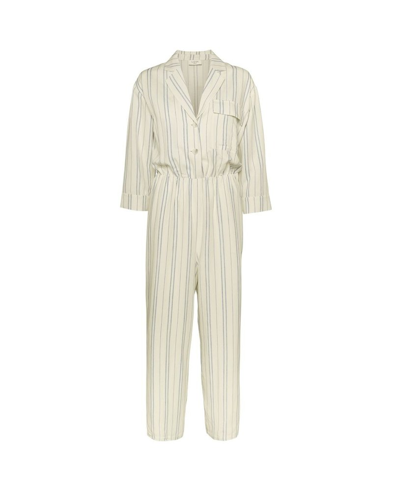 NORR Silverly jumpsuit - White/blue stripe
