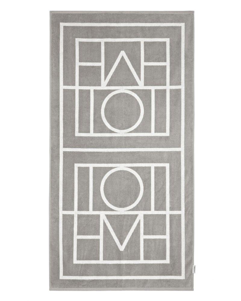 Totême Biarritz beach towel - Grey