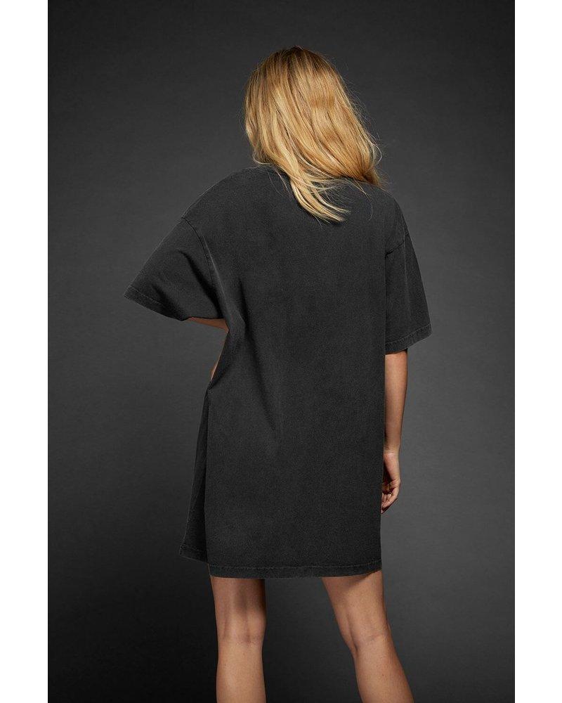Anine Bing Harley Tee dress - Charcoal