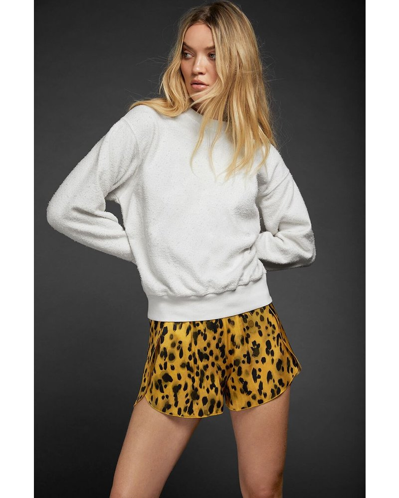 Anine Bing Jade Silk Shorts - Golden Leo