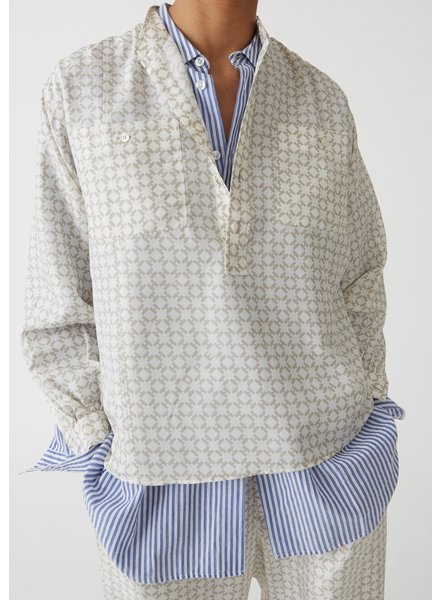 Hope Dalia Silk Shirt - H Logo Beige - size 38