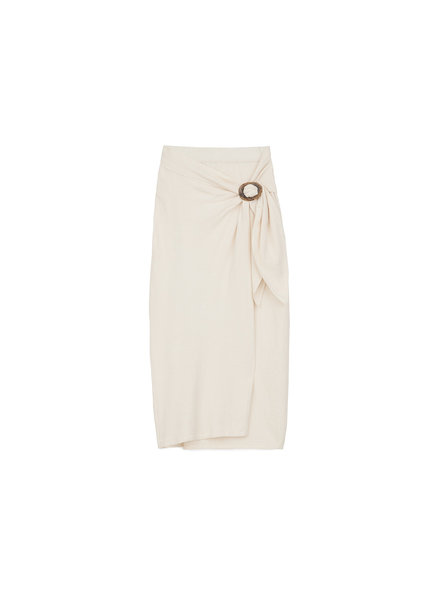 Nanushka SASHA Terry knit wrap skirt - Creme