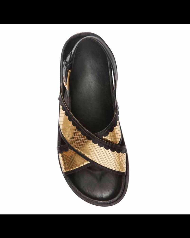 Julie Fagerholt Dalgas sandal - Gold
