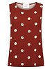 Just Female Caia top - Red polka dot