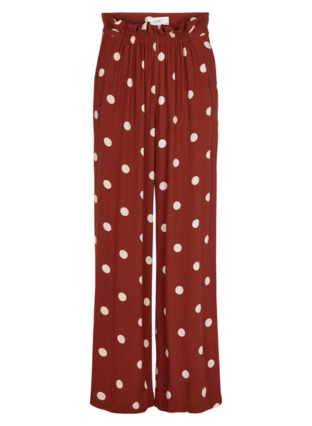 Just Female Caia trousers -  Red polka dot