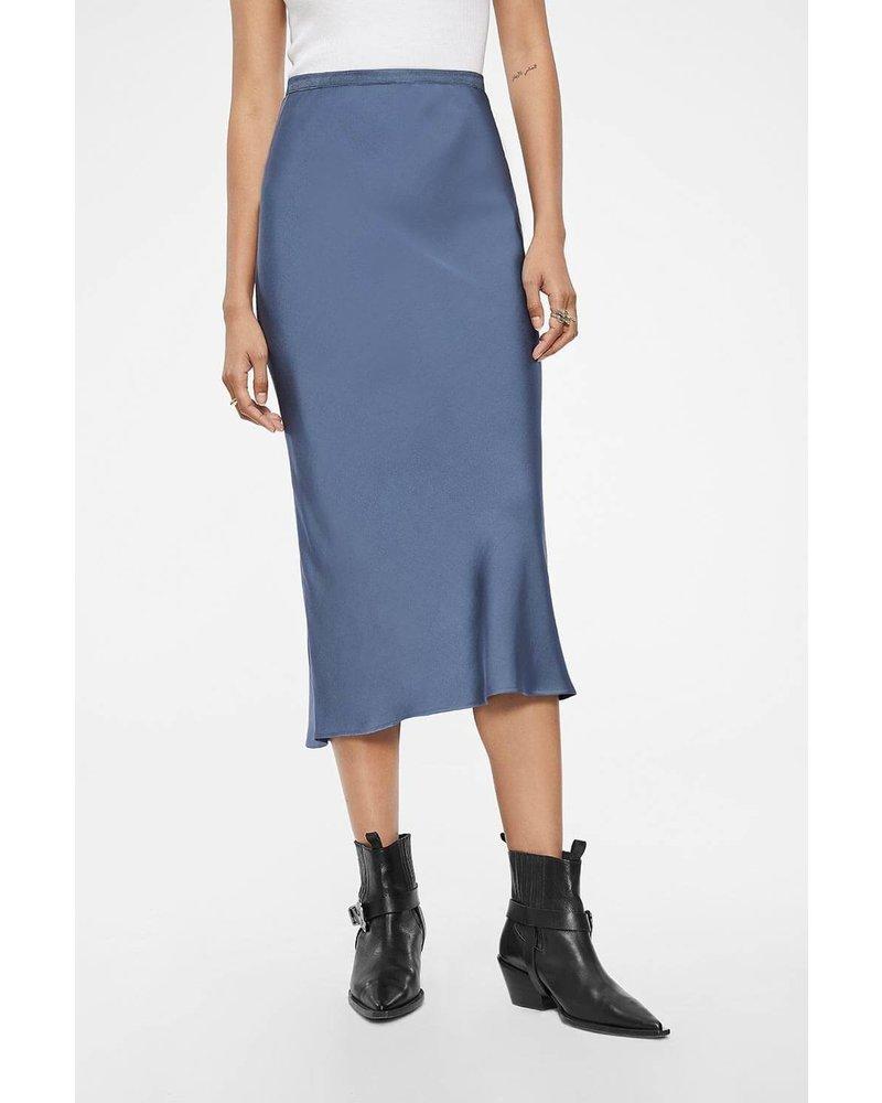 Anine Bing Bar Silk Skirt - Blue