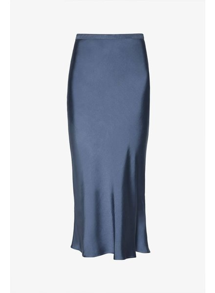 Anine Bing Bar Silk Skirt - Blue