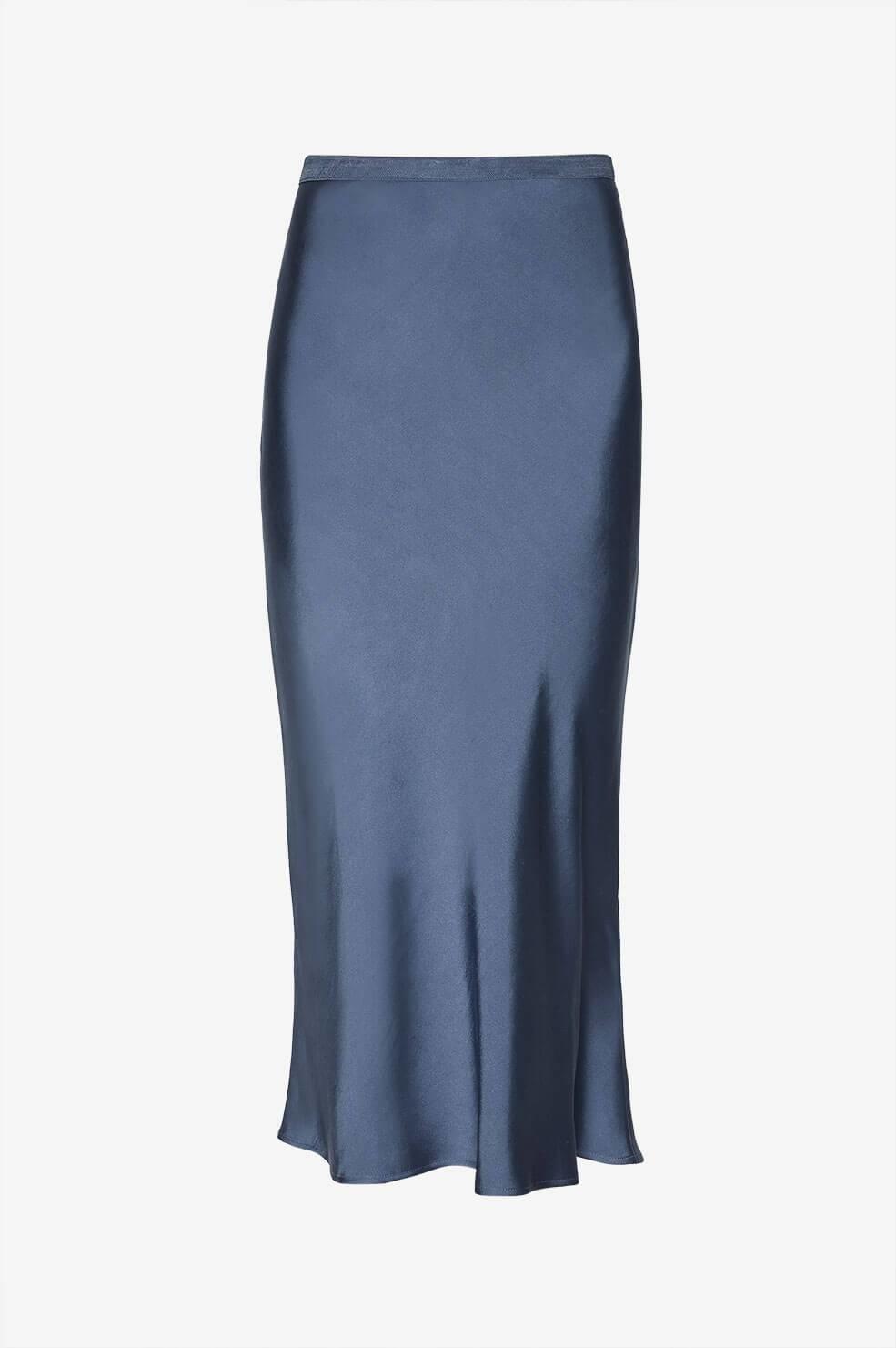 6eed1bea89f5 Anine Bing Bar Silk Skirt - Blue ...