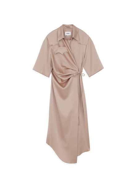 Nanushka Lais shirt dress - Himalayan salt