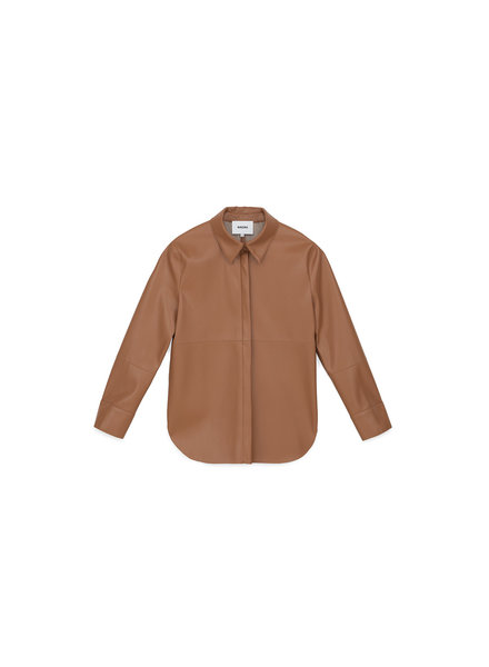 Nanushka Naum shirt - Brown