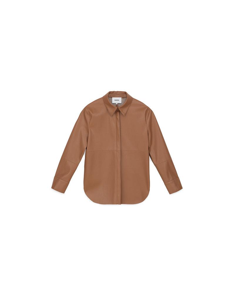 Nanushka Naum shirt - Brown