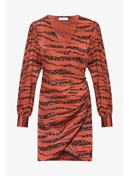 Anine Bing Penelope dress - Rust Zebra