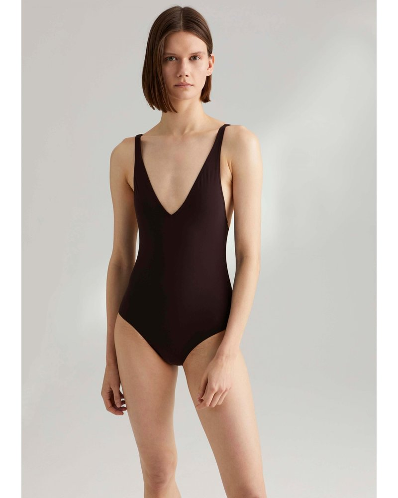 Totême Melissa swimsuit - Dark Brown