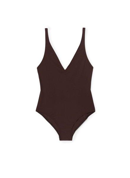 Totême Melissa swimsuit - Dark Brown