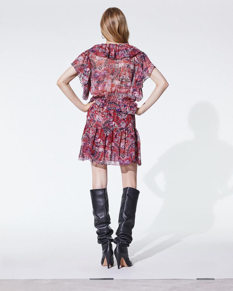 Iro Talara dress - Cranberry