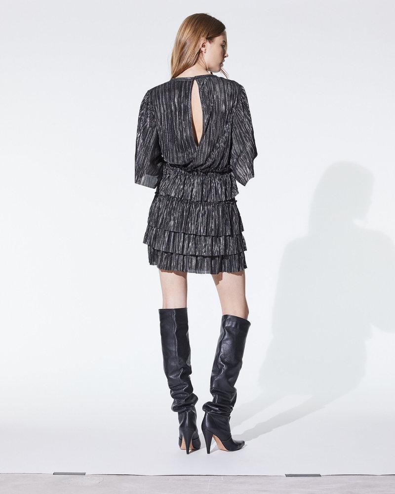 Iro Cuzco dress - Black/silver