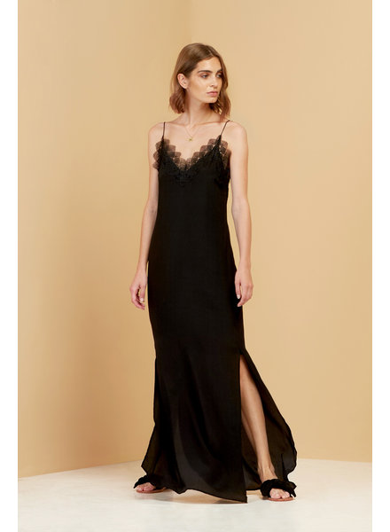 Magali Pascal Loretta Slip Dress - Black