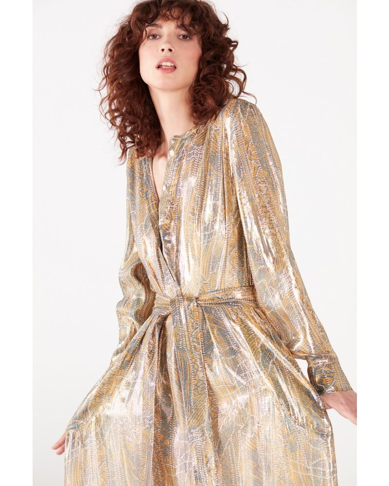 Valentine Gauthier Louisiane dress - Abby Metallic