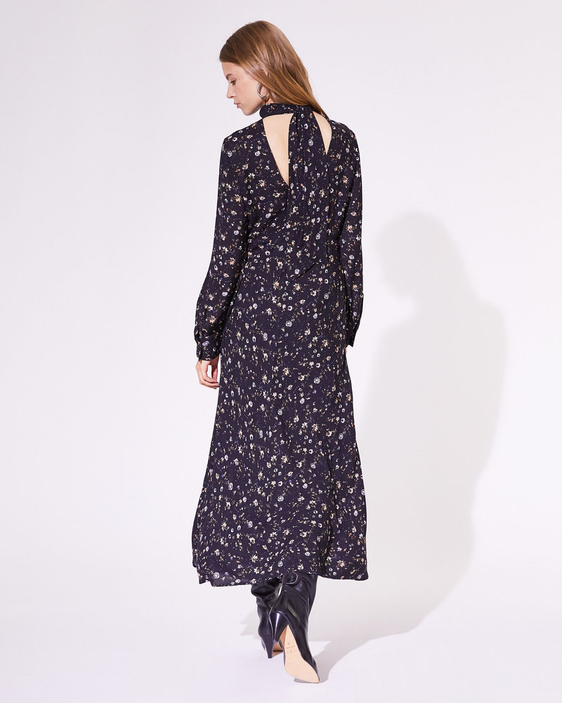 Iro Casual dress - Black/Orange