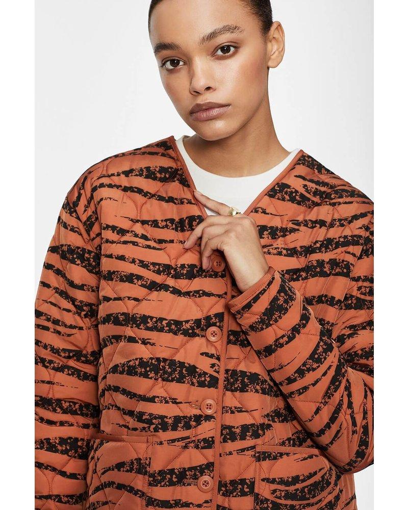 Anine Bing Andy bomber - Rust Zebra