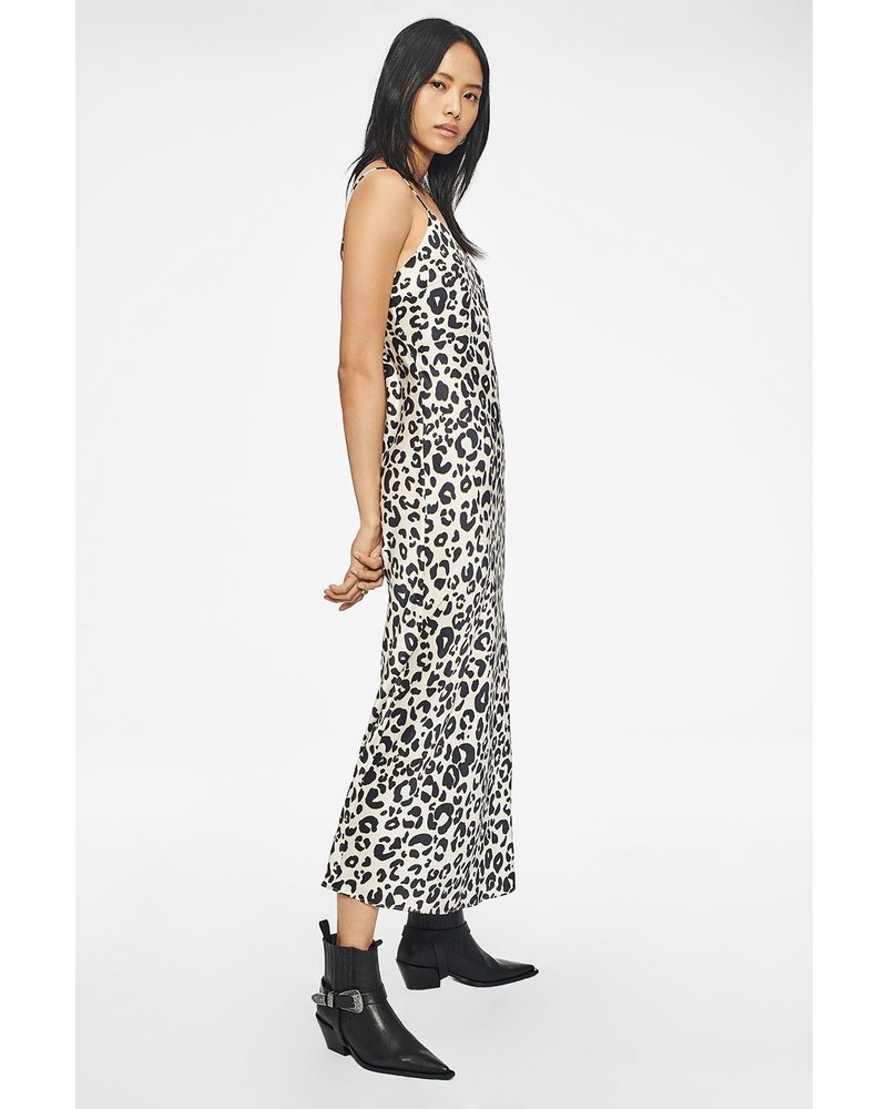Anine Bing Rosemary silk slip dress - Leopard