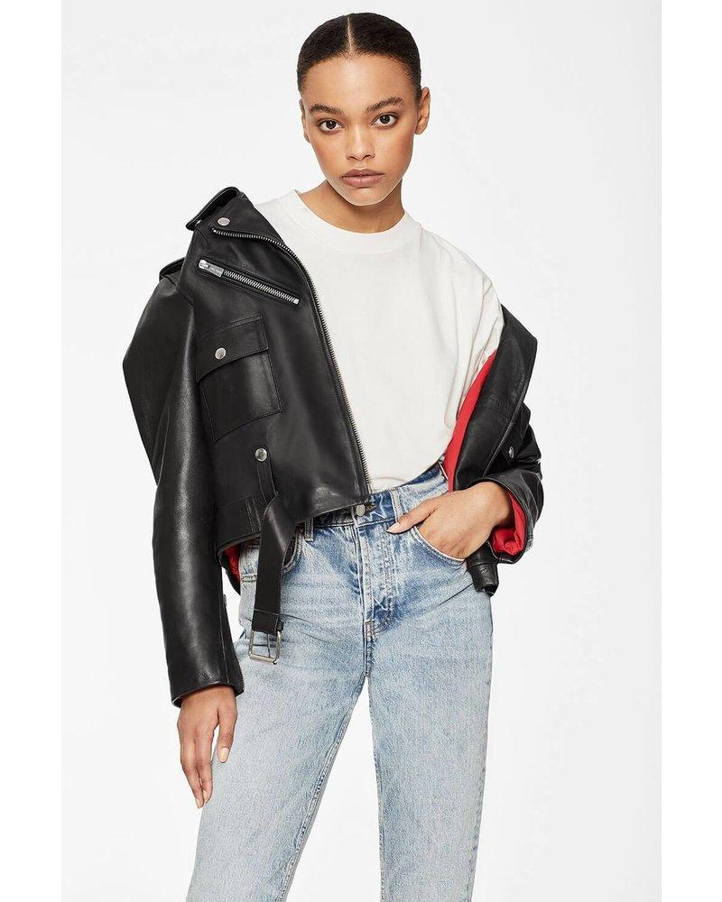 Anine Bing Maverick Leather Jacket - Black