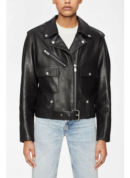 Anine Bing Maverick Leather Jacket - Black